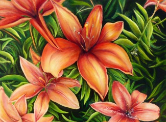 AsianLilies - Watermarked
