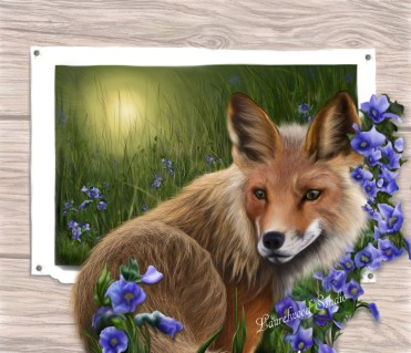 Fox and Flora - Digital Wildlife Painting