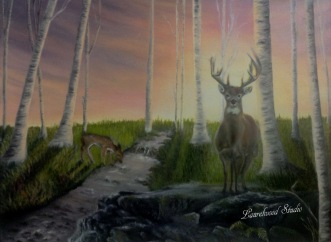 Deer - Oil Wildlife Painting