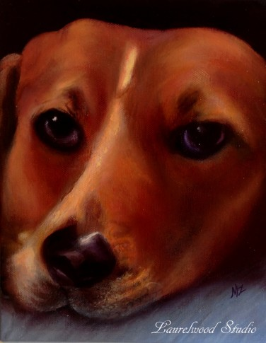 Hound - Dog Pet Portrait in Oil Paint